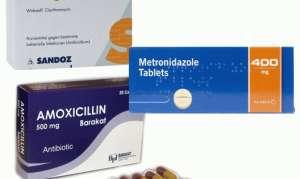 Лечение язвы желудка и двенадцатиперстной кишки антибиотиками