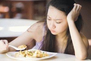 Отсутствие аппетита у больного