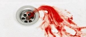 Слюна с кровью