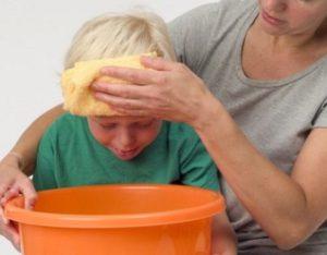 Рвота у ребёнка без температуры и поноса: что делать, основные причины