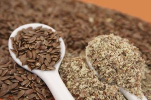 Отруби и семена льна