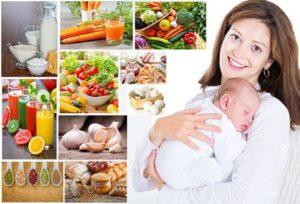 Полезная диета кормящей матери