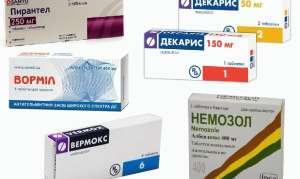 Таблетки от остриц у взрослых и детей