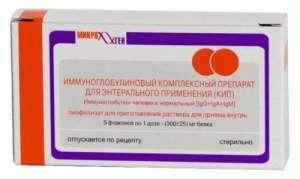 Комплексный иммуноглобулиновый препарат при лечении ротавирусной инфекции