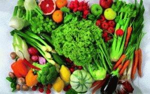 Свежие овощи при язве