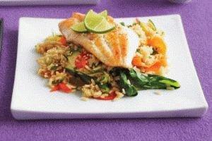 Рис с рыбой в качестве обеда