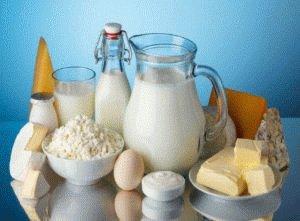 Молочные продукты могут входить в меню