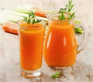 Морковный сок в диете пациента