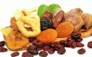 Выбор сухофруктов в питании