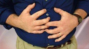 Сильная боль в области желудка