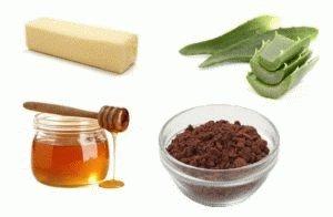 Сливочное масло, алоэ, мёд и какао