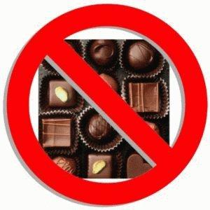Шоколадные конфеты вредны