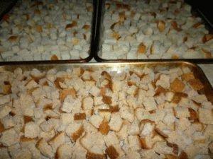 Сушёные кусочки хлеба