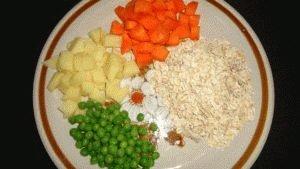 Каша и овощи