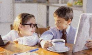 Дети тоже пьют кофе