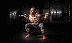 Занятие тяжёлым спортом