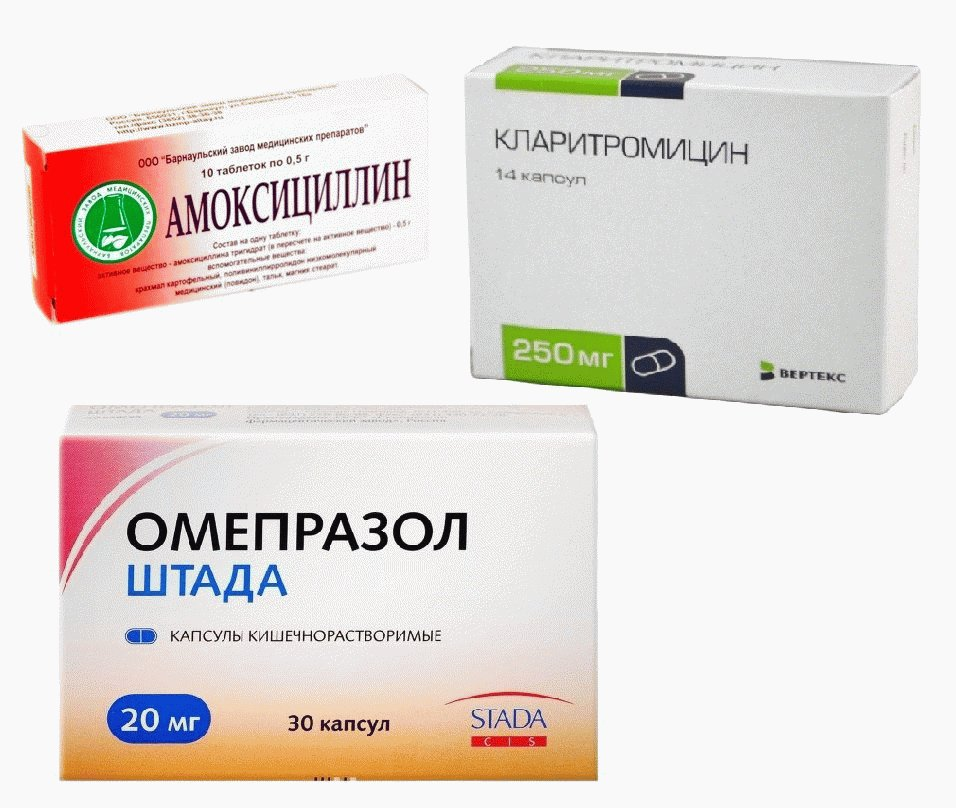 Лечение хилак бактерии в желудке антибиотиками