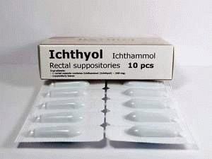 Ихтиоловые суппозитории
