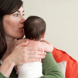 Положение ребёнка после кормления