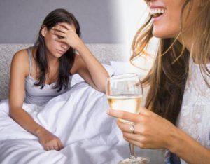 Тошнота от алкоголя