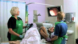 Фибросигмоскопия пациента