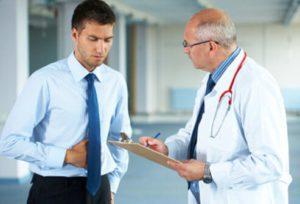 Обращение к врачу с болями в животе