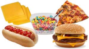 Вредные продукты в диете