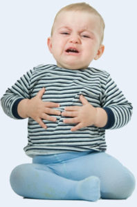 Дискомфорт в животе у ребёнка