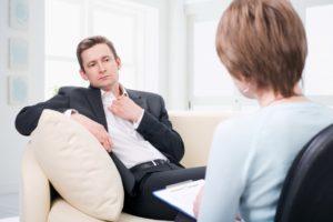 Человек у психолога