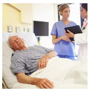 Пожилой человек заболел