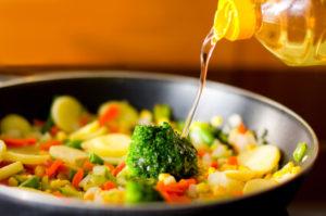 Овощи и растительное масло