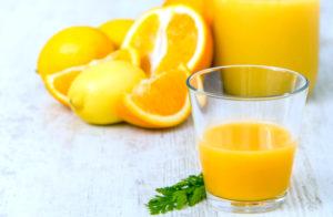 Мята, апельсин и лимон