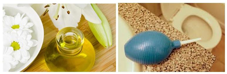 Растительное масло и спринцовка