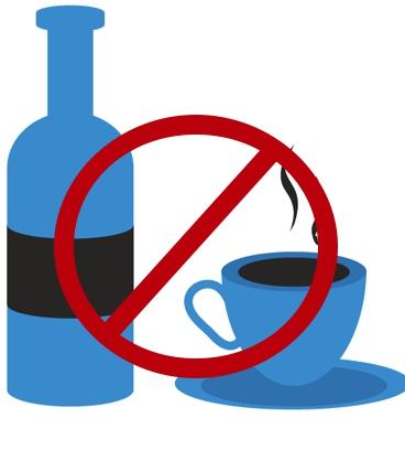 Алкоголь и кофе запрещены