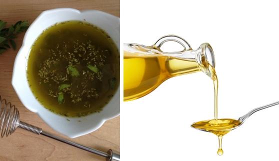 Травяной отвар и масло
