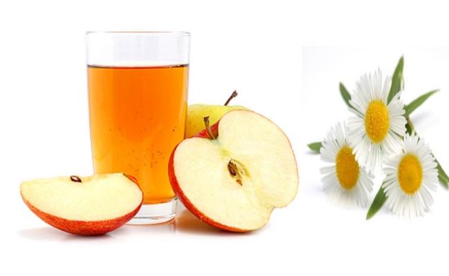 Ромашка и яблоко