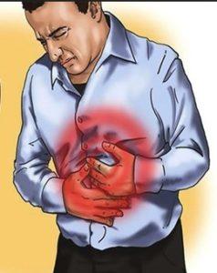 Болит живот у человека