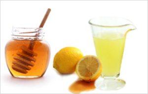 Сок и мёд с дольками лимона