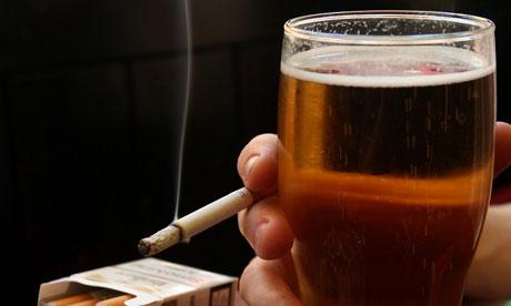 Алкоголь и курение загрязняют организм