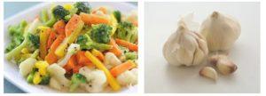 Чеснок и овощи