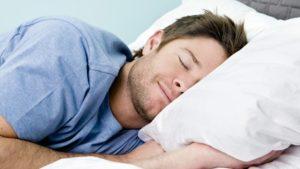 Человек крепко спит