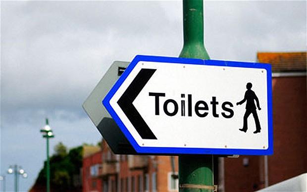 Указатель на туалет