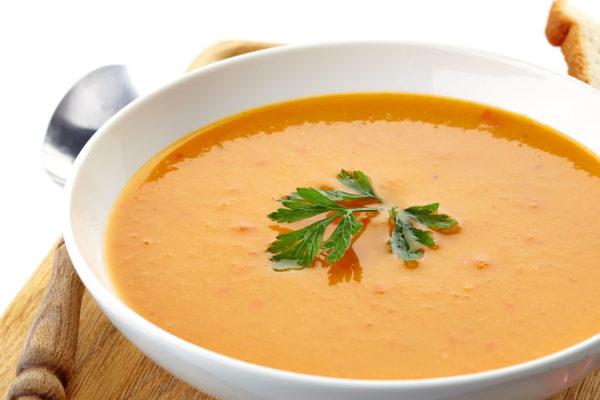 Тарелка с супом-пюре