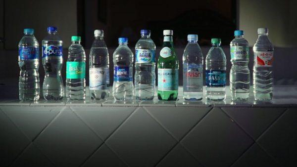 Разные виды минеральных вод