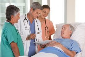 Больной человек в больнице