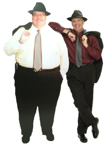 Худой и толстый человек