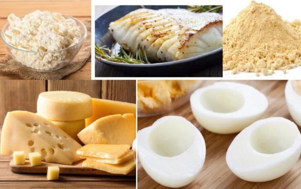 Полезные продукты с белками